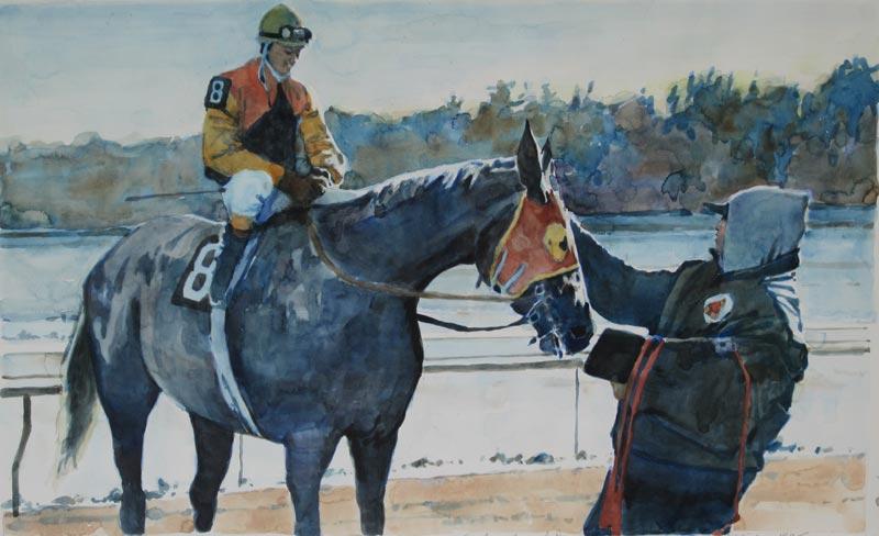 Horse Racing Paintings by Robert A. Wieferich - Original Fine Art ...